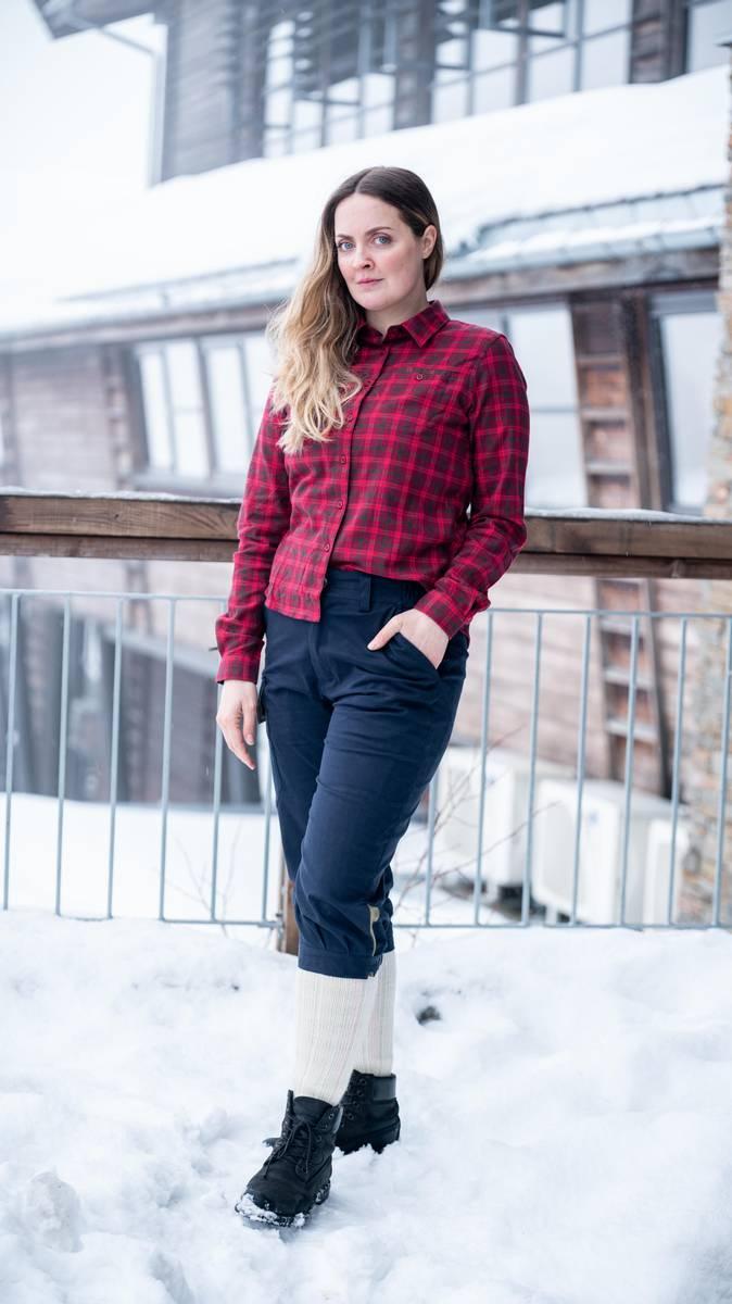 Rødrutete Turskjorte - Dame